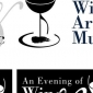 Wine, Art, and Music Logo